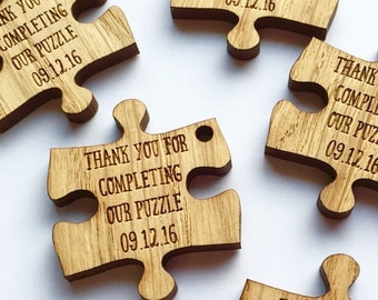 Custom Wedding Favors - Puzzle Favors - Puzzle Piece Favors - Puzzle Decor - Puzzle Decorations - Puzzle Pieces - Wedding Table 10TD