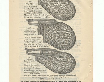 1888 Vintage Ad Pages for Bustles and Dress Forms-Harper's Magazine