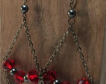 Chained & Beaded Earrings
