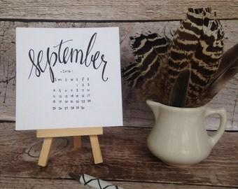 Mini Academic Calendar 2016-2017 with Easel