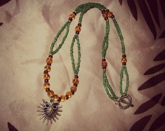 """You're a hoot! Owl beaded necklace 19.5 inches"""""""