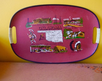Oklahoma Souvenir Tray Made in Japan