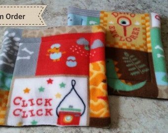 Custom guinea pig potty pads (set of 2); Water bottle drip pads; Fleece pee pads; Potty pads with UHAUL for small animals