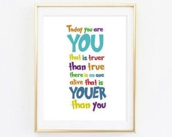 Printable - You are you Wall Art Decor