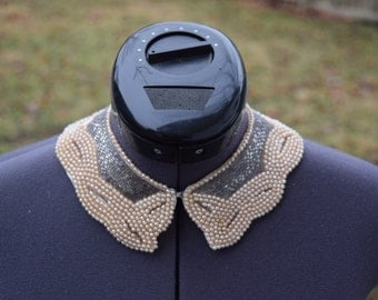 Vintage 1940s Beaded Collar Necklace