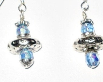 Sapphire AB....SATURN GLOBE Earrings