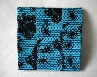 Accordion Duct Tape Wallet - Blue Lace Duct Tape - Black Duct Tape - Chrome Duct Tape - Expandable - Coin Pouch - Velcro Closure