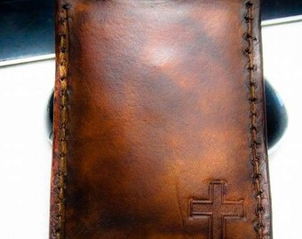 Money Clip Cross Wallet With Vintage Appearance