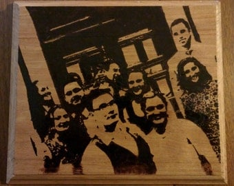 Personalized Wood Burned Portraits
