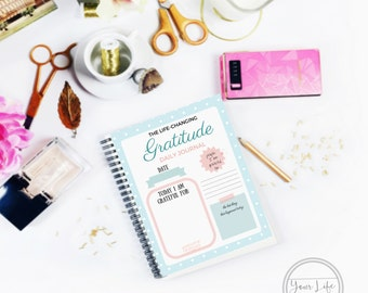 Gratitude Journal - Law of Attraction - Cute Design - Printable