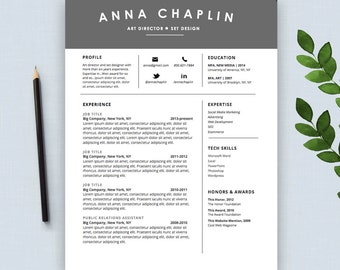 creative resume template cv and cover letter modern script