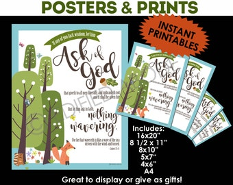 "2017 LDS Mutual Theme ""If any of you lack wisdom, Ask of God"" Posters YW/YM"