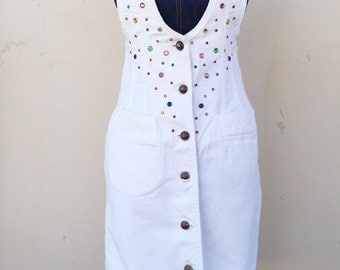 Vintage Denim Jumper Dress-S