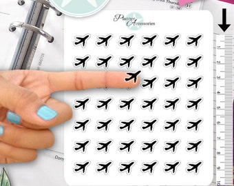 Clear Airplane Stickers Travel Stickers Planner Stickers Erin Condren Functional Stickers Decorative Stickers NR358