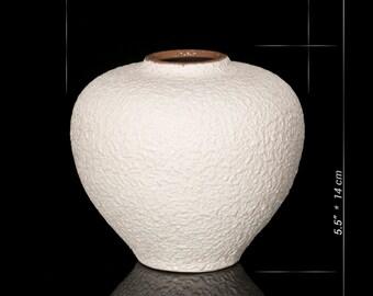Small Stoneware Vase / Classic Ceramic Table Vase / Tiny Flower Vase /  Ivory White Vase / Vase Pottery / Small Handmade Gift