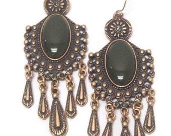 Bohemian style multi bar drop earrings