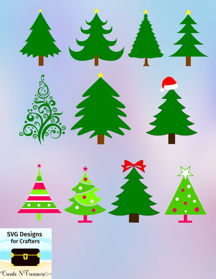 Download Christmas Tree SVG DXF. Cutting files for Silhouette cameo or