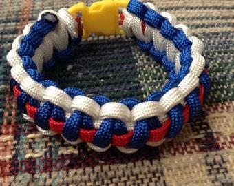 Three color line paracord 550 bracelet