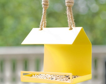 Modern Bird Feeder. Bauhaus Inspired Bird Feeder. Architectural Garden Decor. Gift / Present for Gardeners, Bird Watchers + Ornithologists.