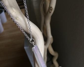 Necklace chain Silver 925 and quartz pendant