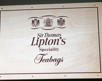 Vintage Lipton Wood Tea Box Collectible Wood Box Lipton Vintage Wood Box Sir Thomas Lipton's Speciality Teabags Excellent Vintage Condition