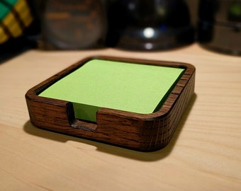 Solid Oak Sticky Note Holder