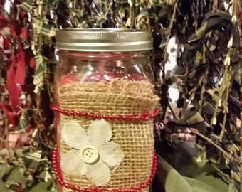 Outdoor all natural bug candle
