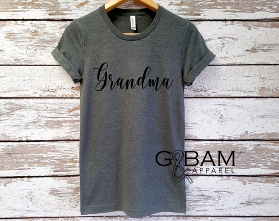 Boyfriend tee / GRANDMA SHIRT /Grandma tee/ You're a grandma / Grandma gift / future grandma / we're Pregnant