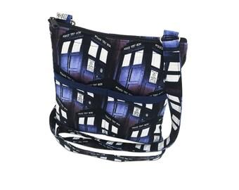 Doctor Who Crossbody Bag // Sling Bag // Crossbody Purse // Shoulder Bag // Hipster // Tardis