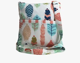 Helotes Feathers Crossbody Bag // Sling Bag // Crossbody Purse // Shoulder Bag // Hipster