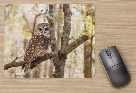 Owl Mouse Pad - Owl Mousepads - Computer Mat - Office Accessories - Office Decor - Desk Accessories - Office Gifts