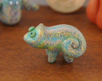 Green Lizard Miniature Animal Totem