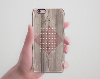 Wood Phone Case Geometric iPhone 6S Case iPhone 6 Case Black iPhone 5S Case Wood iPhone 6S Plus Case Galaxy s6 Case Samsung s5