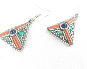 Tibetan tribal earrings earings boho