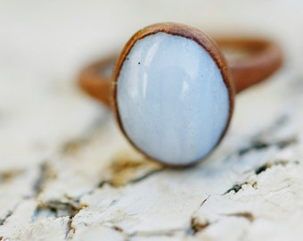 Polished Serenity Blue Ring