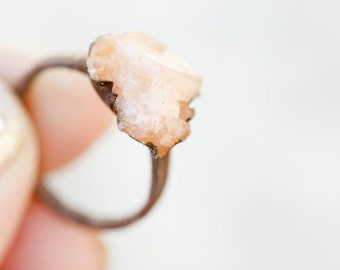 Peach Crystal Ring