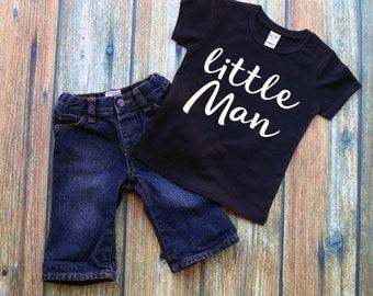 Little Man Shirt or Bodysuit - Boys Shirt, Boys Clothing, Bodysuit, Vinyl Shirt, HTV, Little Man, New Baby Boy Shirt, Baby Shower Gift