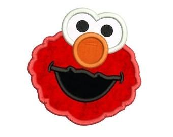 Elmo Applique Digital Design - Elmo embroidery design - Instant download - 4x4 5x7 6x10 embroidery