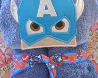 Captain America Hood Towel