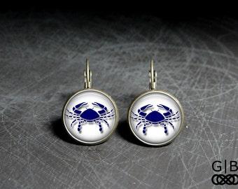 Cancer Earrings Zodiac Cancer Dangles Zodiac Earrings Cancer Birthday Earrings Cancer Birthday Gift Earrings Dangles Zodiac Cancer Earrings