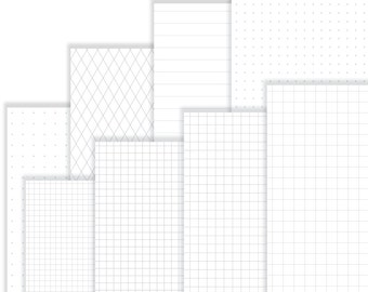 Printable Grids and Lines: Gray