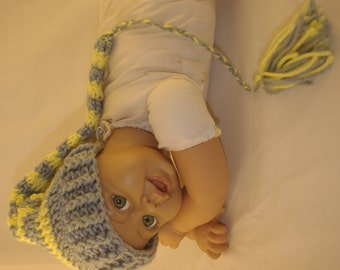 Precious newborn stocking hat with tassel Baby photo prop