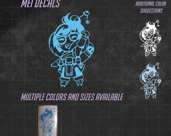Mei Vinyl Decal -  Multiple sizes and over 60 colors to choose from