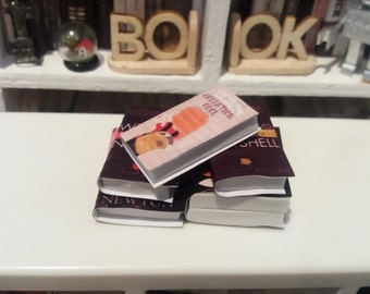 5 Miniature Books for dollhouses