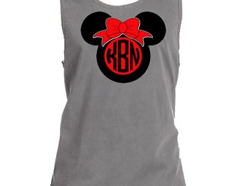 Minnie Mouse Head with Initials