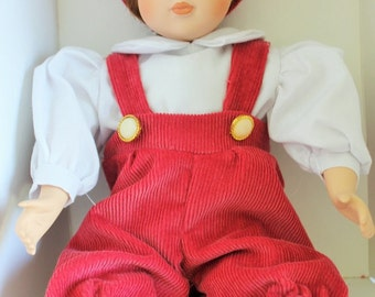 "NEW htf Vintage Kimberly Collection "" Matthew"" Porcelain Doll Sold By Friendly Toy Paties free usa shipping"