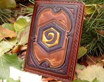 Leather Passport Cover With Hearthstone the legendary