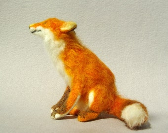 Red Fox-A needle felted soft sculpture