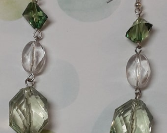 Green & Clear Earrings
