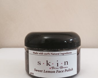 Sweet Lemon Face Polish  4oz Made with 100% All Natural  Ingredients